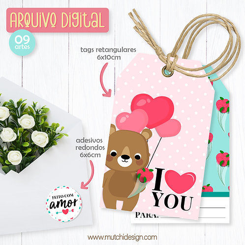 Printable Tags & Adesivos   Dia dos Namorados