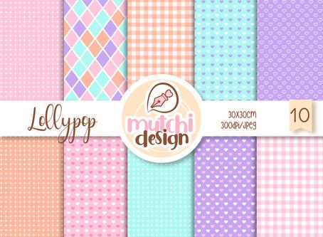 Freebie Papeis Digitais | Lollypop