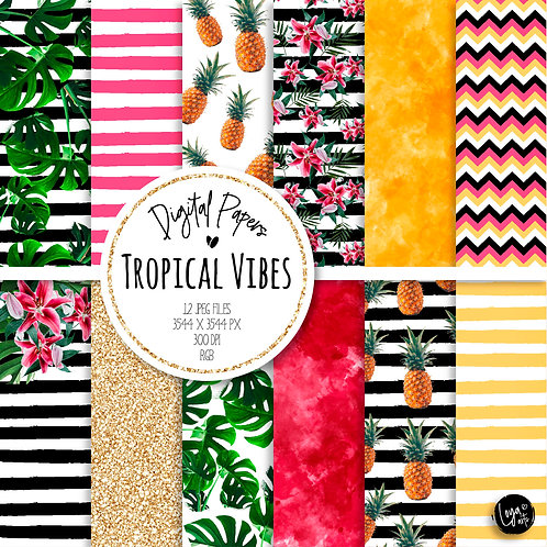 Papeis Digitais | Tropical Vibes