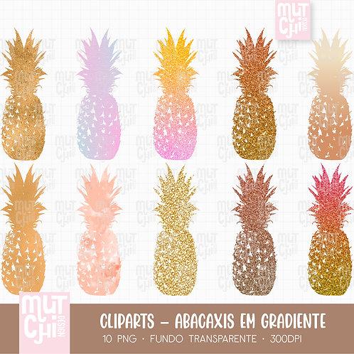 Cliparts   Abacaxi em Gradiente