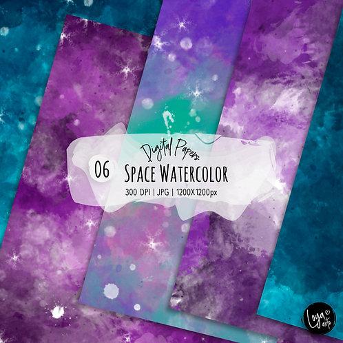 Papeis Digitais | Galaxia & Aquarela