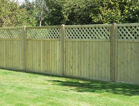 Trellis Top Fence Panels - Hopkins Fencing Ltd - Portsmouth