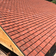 Small Tiles On Garage Roof
