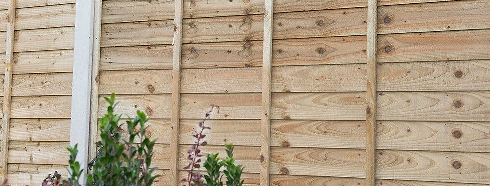 Larch Lap Fence Panels