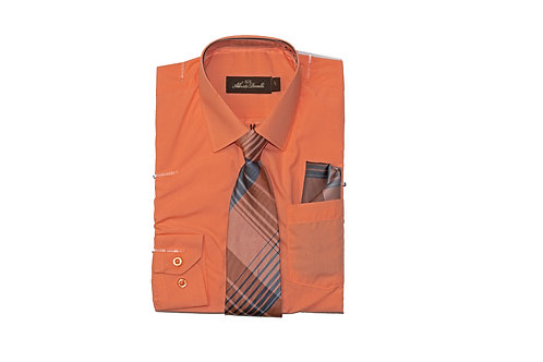 Boy's Combo Dress Shirt