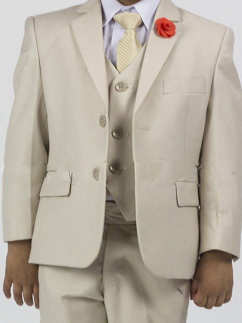 Boy's 5 Piece Suit (Tan)