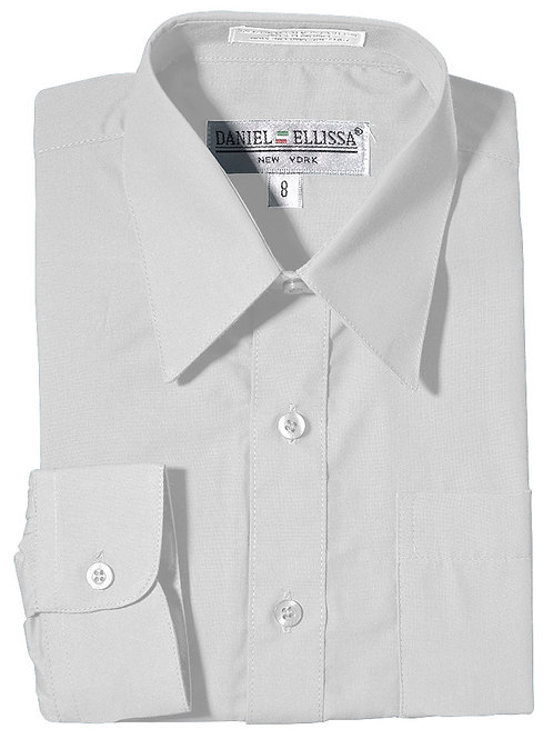 Daniel Ellissa Boy's Dress Shirt (White)