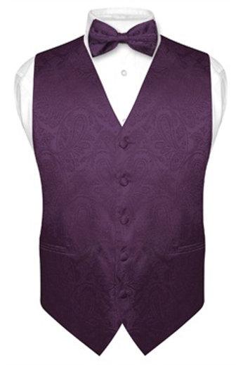 Men's Paisley Vest Purple