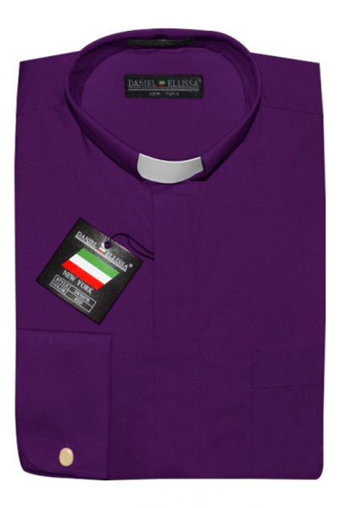 Long Sleeve Purple Clergy Shirt
