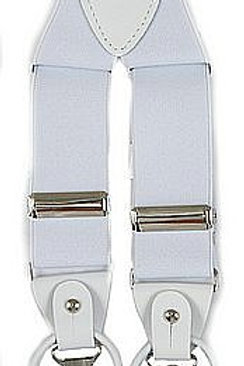 Men's Suspender Y-Back White