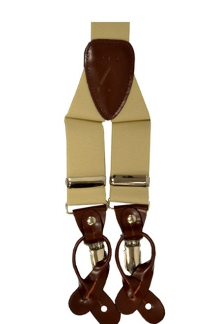 Men's Suspender Y-Back Beige