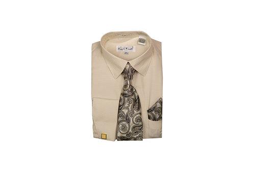 Men's Shirt & Tie Combo Shirt