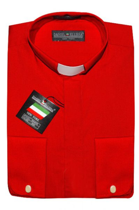 Long Sleeve Red Clergy Shirt