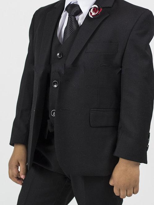 Boy's 5 Piece Suit (Black)