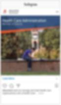 Screenshot Instagram - Health Care SHSU