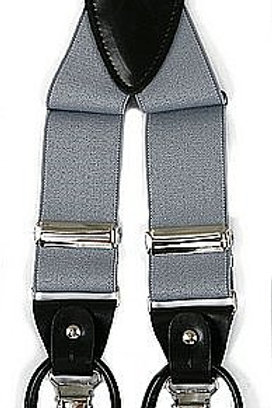 Men's Suspender Y-Back Grey