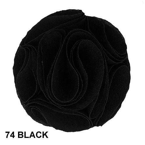 Lapel Rose (Black)