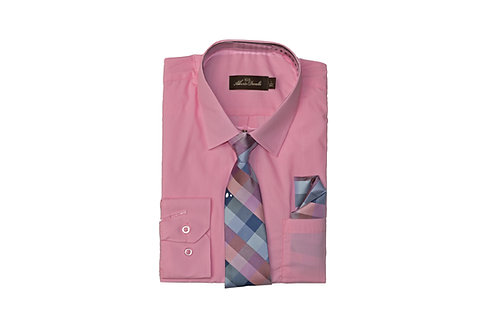 Boy's Combo Dress Shirt