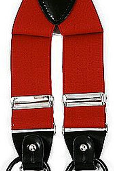 Men's Suspender Y-Back Red