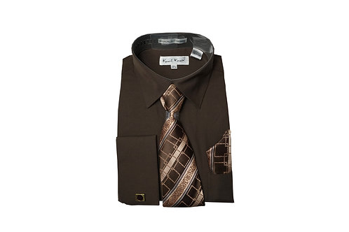 Men's Shirt & Tie Combo Set