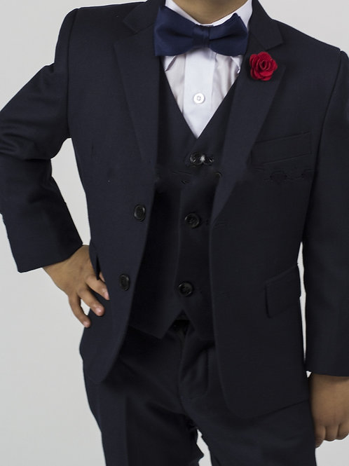 Boy's 5 Piece Suit (Navy)
