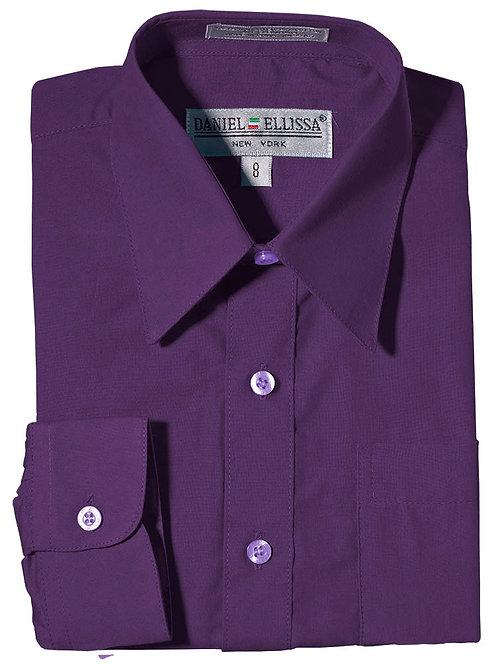 Daniel Ellissa Boy's Dress Shirt (Purple)