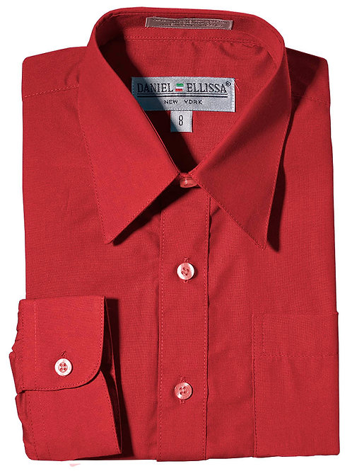 Daniel Ellissa Boy's Dress Shirt (Red)