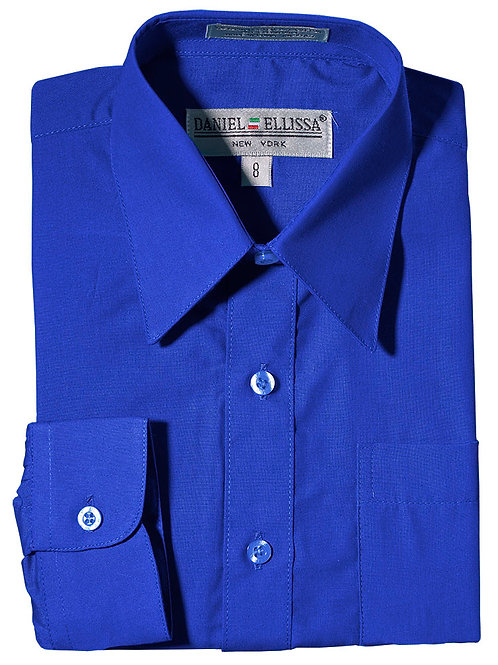 Daniel Ellissa Boy's Dress Shirt (Royal)