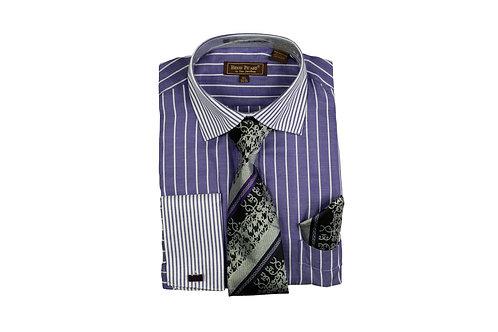Men's Shirt & Tie Combo Set