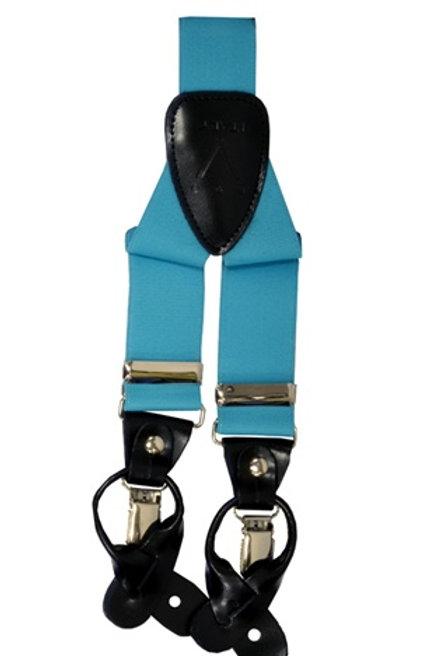 Men's  Suspender Y-Back Turquoise