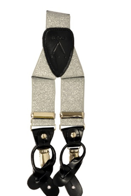 Men's  Suspender Y-Back Metallic Silver