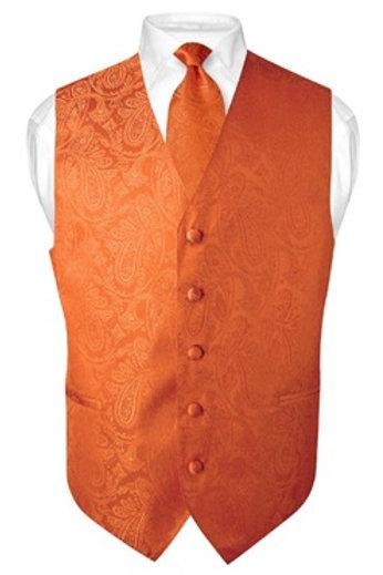 Men's Paisley Vest Orange