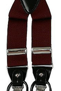Men's Suspender Y-Back Burgundy