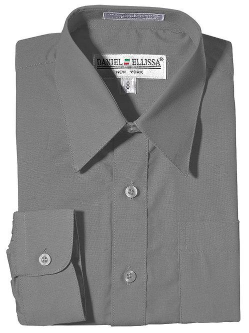 Daniel Ellissa Boy's Dress Shirt (Silver)