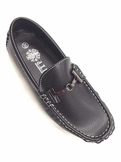 AXNY Boys Buckle Loafers