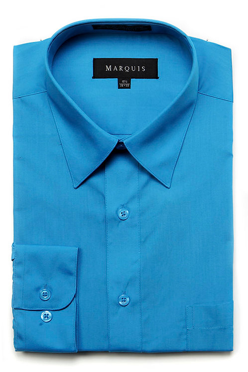 Marquis Slim Fit Shirt (Caribbean Blue)