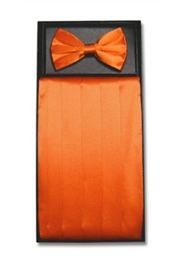 Silk Cummerbund and Bowtie