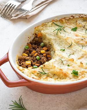 Shepherd's Pie with ground beef, potato