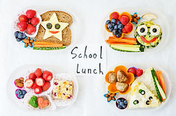 school lunch boxes for kids with food in