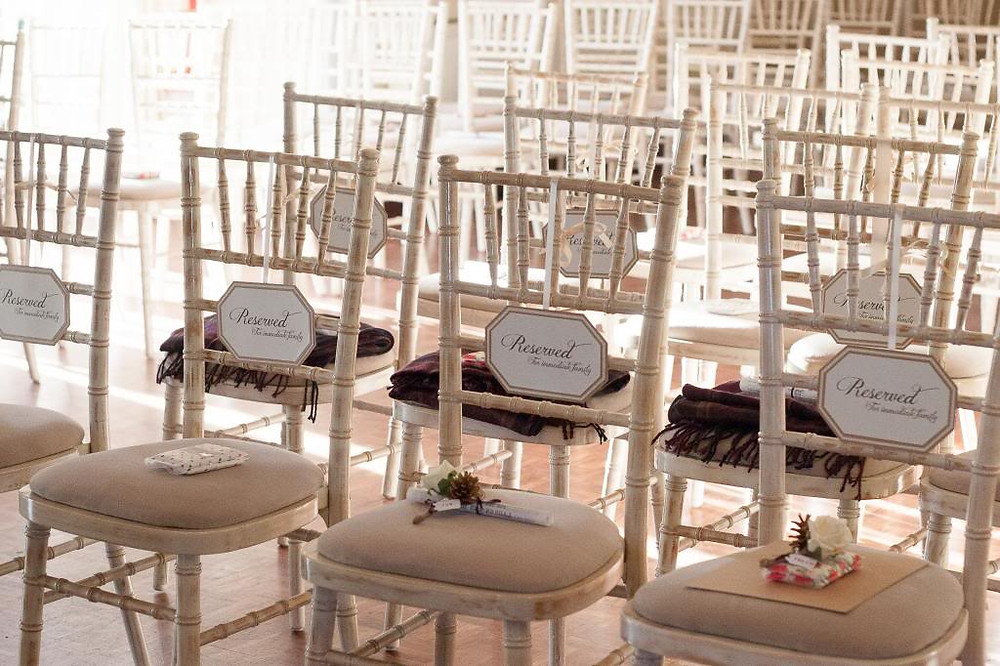 Reserved Seating on a Chiavari Chair