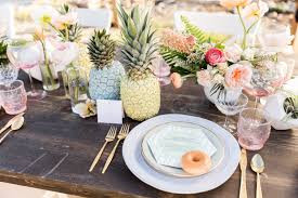 A Pineapple Paradise Farm Table available at Taylor Rental of Manchester and West Hartford