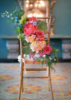 Chiavari with Bright Blooms