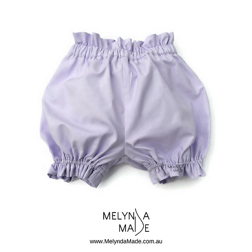 MelyndaMade Handmade Baby Clothes Lilac Bloomers