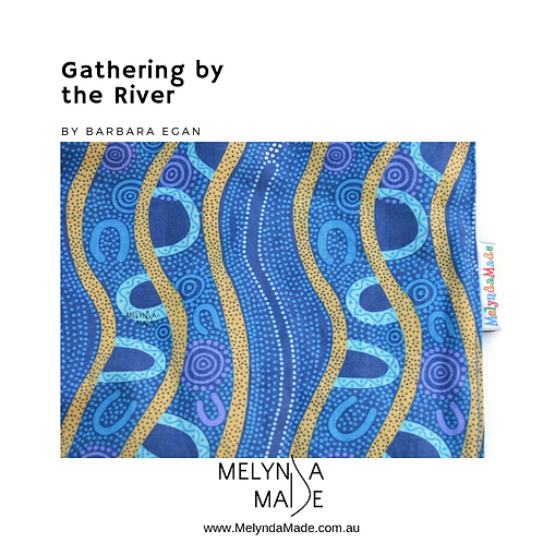 MelyndaMade Handmade Indigenous Ladies Infinity Scarf Gathering By the River