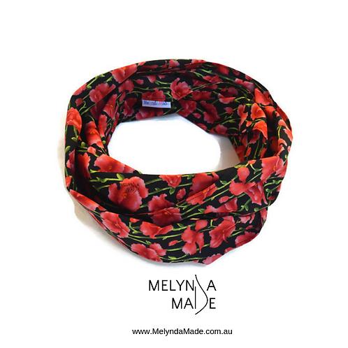 MelyndaMade Handmade Ladies Infinity Scarf poppies