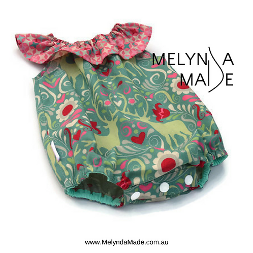 MelyndaMade Handmade Baby Clothes Christmas Deers