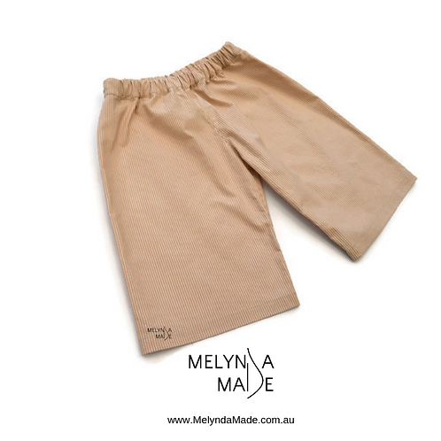 MelyndaMAde Handmade Childrens Clothing Boys Beige Shorts