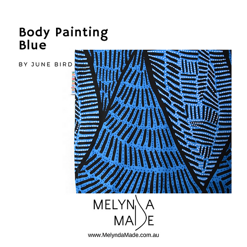 MelyndaMade Handmade Baby Clothes Indigenous Body Painting Blue
