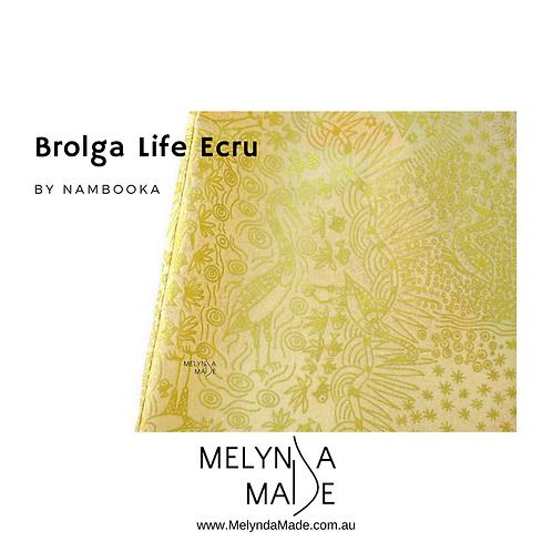 MelyndaMade Handmade Ladies Indigenous Infinity Scarf Brolga Life Ecru
