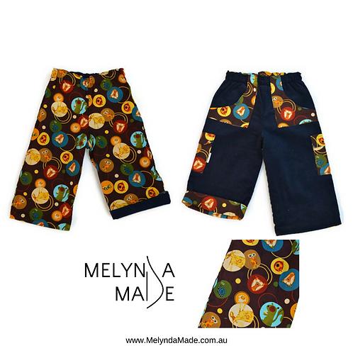 MelyndaMade Handmade Reversible Pants Sz 2